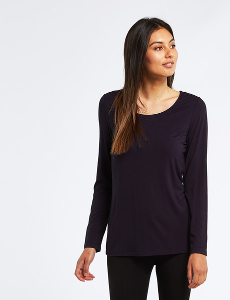 Bodycode Long-Sleeve Scoop-Neck Tee, Eclipse product photo