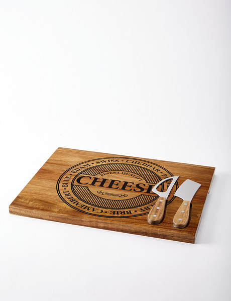 Salt&Pepper Fromage Serve Board with Knives, 40 x 30cm product photo