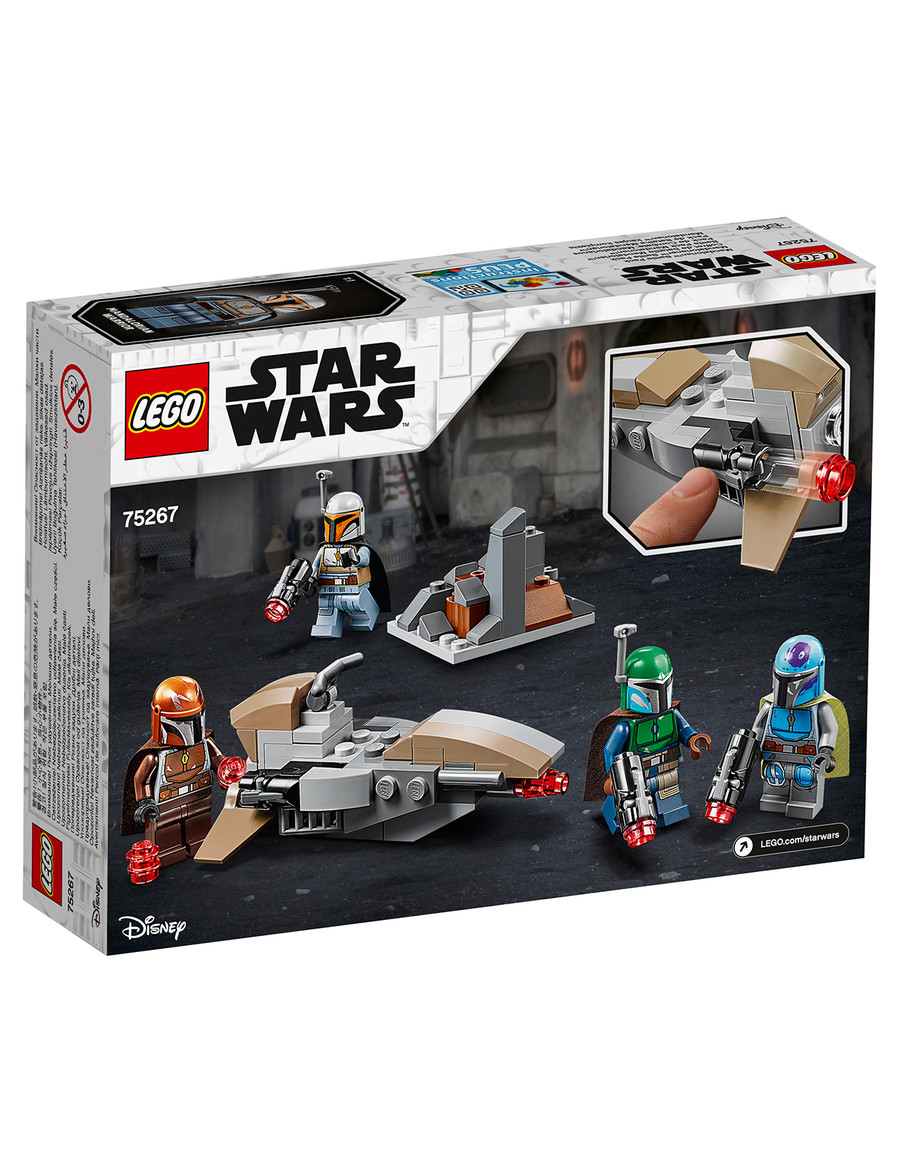 LEGO Star wars Mandalorian minifigure with accessories from star wars sets
