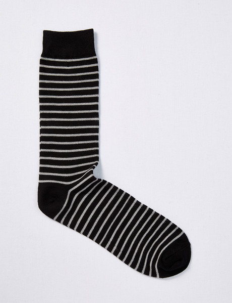 Mazzoni Soft-Touch Stripe Sock, Black & Sand product photo