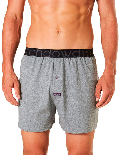 Mitch Dowd Loose Fit Knit Boxer Short, Charcoal Marle product photo