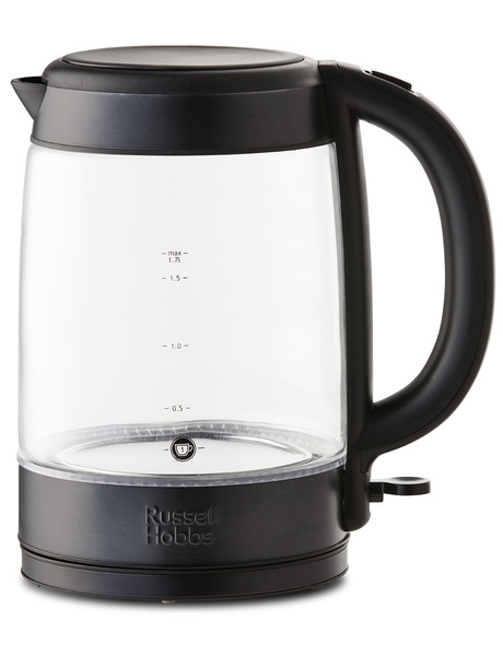 Russell Hobbs 1.7L Brooklyn Glass Kettle, Black, RHK172BCH product photo