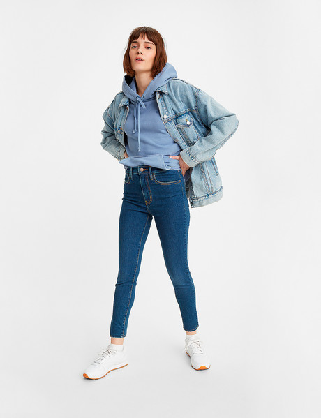 Levis Mile High Super Skinny Jean, Toronto Tears product photo