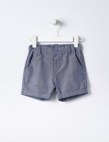 Teeny Weeny Chambray Short, Blue product photo