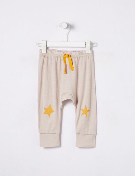 Teeny Weeny Merino Star Print Cuff Pant, Tidal Foam product photo