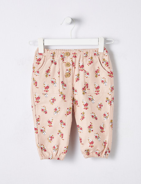 Teeny Weeny Ditsy Floral Print Pant, Pink product photo