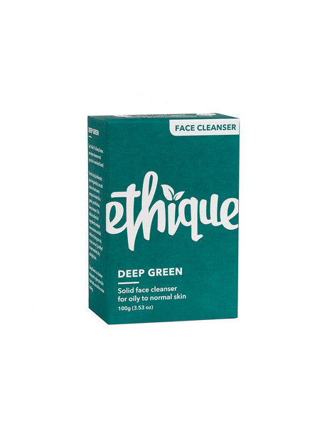 Ethique Deep Green Solid Face Cleanser, 100g product photo