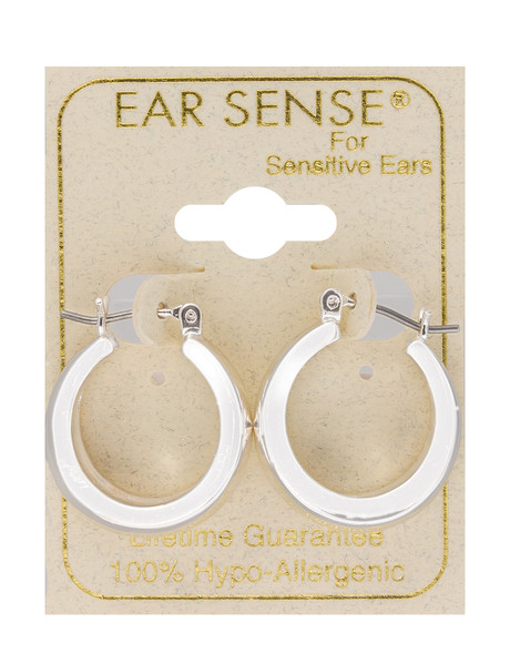 Earsense Concave Hoop Earrings, Silver product photo