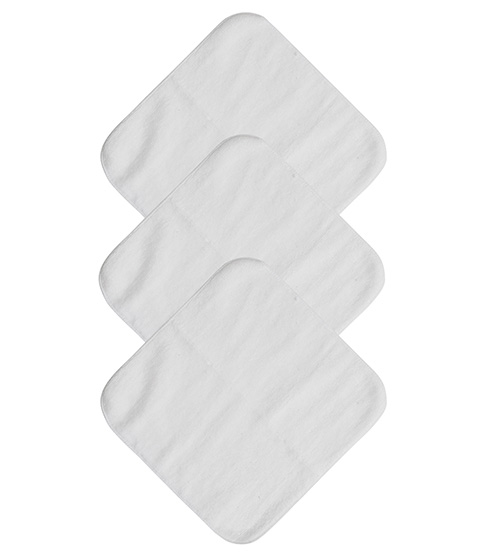 Mum 2 Mum Face Washers, White, 6-Pack