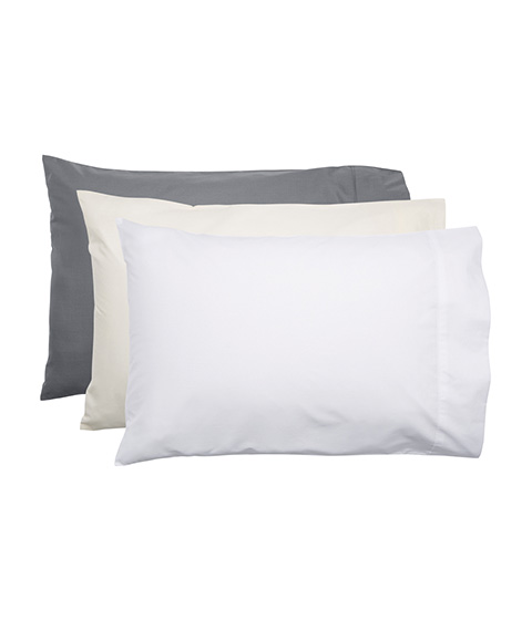 Style Co 225 Thread Count Polyester Cotton Standard Pillowcase, Charcoal