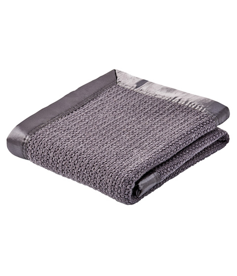 Teeny Weeny Wool Thermacell Cot Blanket, Charcoal