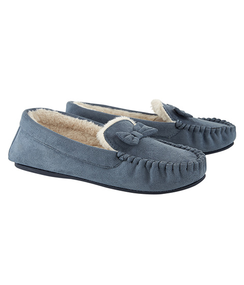 Whistle Moccassin Slipper, Graphite