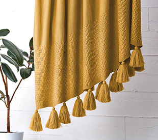 Your Home And Garden Carmona Tassel Throw