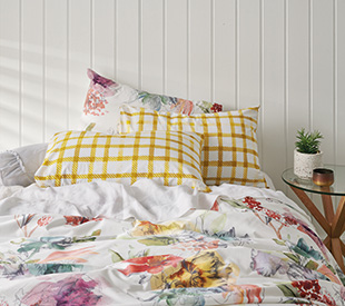 Your Home And Garden Carmona Gingham Printed Pillowcase, 2-Set