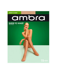 Ambra Sheer to Waist, 15 Denier Tight, Natural product photo
