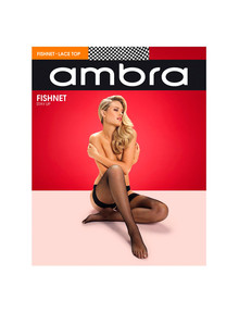 Ambra Classic Fishnet Stay Up, Black product photo
