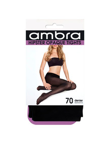 Ambra Hipster Opaque Tight, 70 Denier, Black product photo