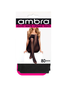 Ambra Velvet Matte Tight, 80 Denier, Black product photo
