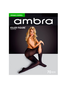 Ambra Killer Figure Opaque Control, 70 Denier, Black product photo