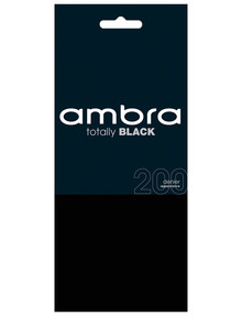 Ambra Totally Black Tight, 200 Denier product photo