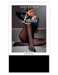 Levante Suede Matte Opaque Tight, 50 Denier, Nero (Black) product photo