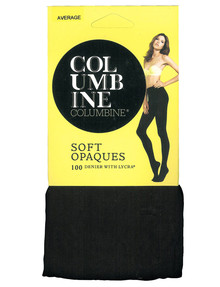 Columbine Opaque Tight, 100 Denier, Black product photo