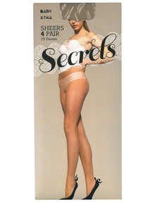 Secrets Pantyhose, 15 Denier, 4-Pack product photo