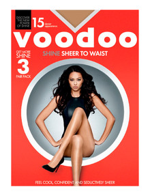 Voodoo Shine Sheer to Waist Pantyhose, 15 Denier product photo