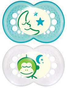 Mam Nightime Soother, 4-24M, 2pk, Assorted product photo