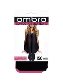 Ambra Soft Cotton Tight, 150 Denier, Black product photo