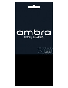 Ambra Totally Black Footless, 200 Denier Legging product photo