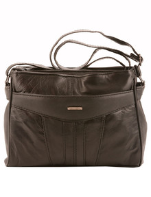 Milano Front Pocket Small Cross-Body Bag, Black product photo