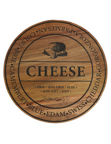 Salt&Pepper Fromage Round Wood Cheese Board, 40cm product photo