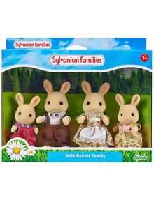 Sylvanian Families Periwinkle Buttermilk Rabbit Family product photo