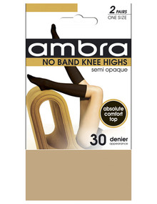 Ambra No Band Knee-High, 2-Pack, 30 Denier product photo