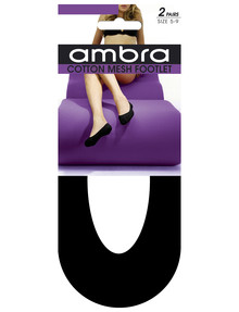 Ambra Cotton Mesh Footlet, 2-Pack product photo