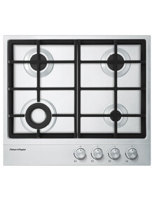 Fisher & Paykel 4-Burner Gas Cooktop with Mini Wok CG604DX1-4 product photo