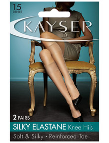 Kayser Silky elastane Knee-High, 15 Denier, 2-Pack product photo