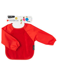 Mum 2 Mum Long Sleeve Wonder Bib, Red product photo