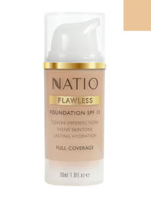 Natio Flawless Foundation - Light Honey product photo