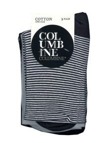 Columbine Patterned Crew Sock, 3-Pack product photo
