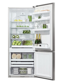 Fisher & Paykel 442L Fridge Freezer, Stainless Steel, E442BRXFD5 product photo