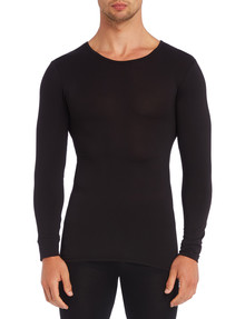 Superfit Long-Sleeve Thermal Top, Black product photo