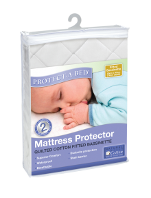 Protect-A-Bed Cotton Quilt Fitted Bassinette Mattress Protector product photo