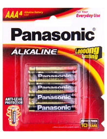 Panasonic Alkaline Batteries AAA 4 Pack product photo