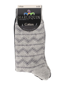 Harlequin Aztec Patterned Sock, 3-Pack product photo
