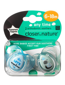 Tommee Tippee Anytime Soother, 6-18M, 2pk, Assorted product photo