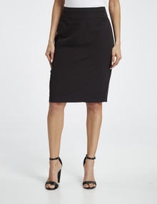 Oliver Black Two-Way Stretch Pencil Skirt, Black product photo