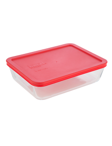 Pyrex Rectangular Baking Dish with Red Storage Lid, 1.5L product photo