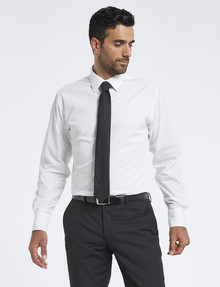 Van Heusen Long-Sleeve Plain Shirt, Euro Fit, White product photo